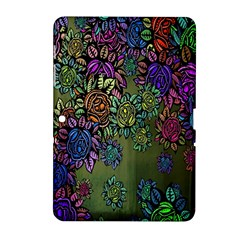 Grunge Rose Background Pattern Samsung Galaxy Tab 2 (10 1 ) P5100 Hardshell Case  by BangZart