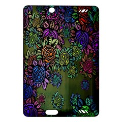 Grunge Rose Background Pattern Amazon Kindle Fire Hd (2013) Hardshell Case by BangZart