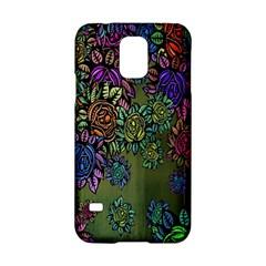 Grunge Rose Background Pattern Samsung Galaxy S5 Hardshell Case