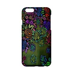 Grunge Rose Background Pattern Apple Iphone 6/6s Hardshell Case by BangZart