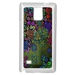 Grunge Rose Background Pattern Samsung Galaxy Note 4 Case (white) by BangZart