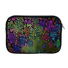 Grunge Rose Background Pattern Apple Macbook Pro 17  Zipper Case