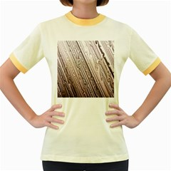 Vintage Pattern Background Wallpaper Women s Fitted Ringer T Shirts