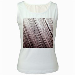 Vintage Pattern Background Wallpaper Women s White Tank Top