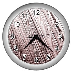 Vintage Pattern Background Wallpaper Wall Clocks (silver)  by BangZart
