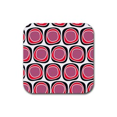 Wheel Stones Pink Pattern Abstract Background Rubber Square Coaster (4 Pack)  by BangZart