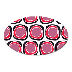 Wheel Stones Pink Pattern Abstract Background Oval Magnet by BangZart