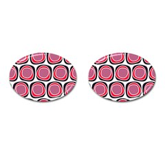 Wheel Stones Pink Pattern Abstract Background Cufflinks (oval)