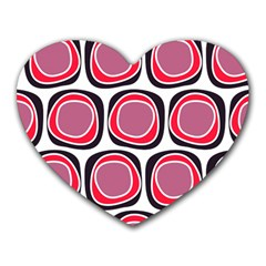 Wheel Stones Pink Pattern Abstract Background Heart Mousepads by BangZart