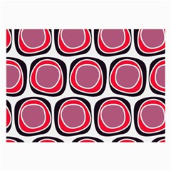 Wheel Stones Pink Pattern Abstract Background Large Glasses Cloth (2 Side)
