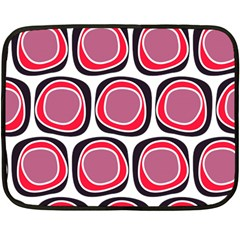 Wheel Stones Pink Pattern Abstract Background Double Sided Fleece Blanket (mini)