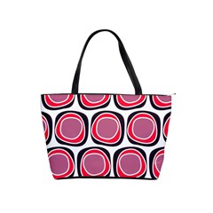 Wheel Stones Pink Pattern Abstract Background Shoulder Handbags