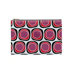 Wheel Stones Pink Pattern Abstract Background Cosmetic Bag (medium)  by BangZart