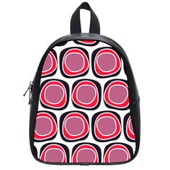 Wheel Stones Pink Pattern Abstract Background School Bags (small)  by BangZart