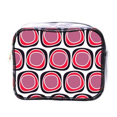 Wheel Stones Pink Pattern Abstract Background Mini Toiletries Bags
