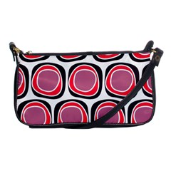 Wheel Stones Pink Pattern Abstract Background Shoulder Clutch Bags by BangZart