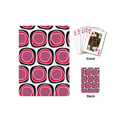 Wheel Stones Pink Pattern Abstract Background Playing Cards (mini)