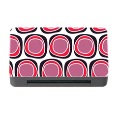 Wheel Stones Pink Pattern Abstract Background Memory Card Reader With Cf by BangZart