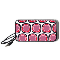 Wheel Stones Pink Pattern Abstract Background Portable Speaker (black)