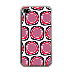 Wheel Stones Pink Pattern Abstract Background Apple Iphone 4 Case (clear) by BangZart