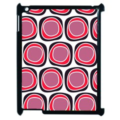 Wheel Stones Pink Pattern Abstract Background Apple Ipad 2 Case (black) by BangZart