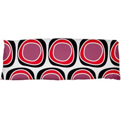 Wheel Stones Pink Pattern Abstract Background Body Pillow Case (dakimakura)