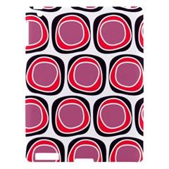 Wheel Stones Pink Pattern Abstract Background Apple Ipad 3/4 Hardshell Case