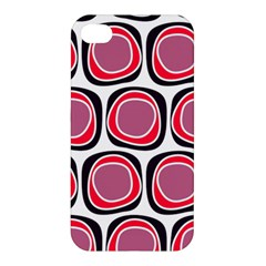 Wheel Stones Pink Pattern Abstract Background Apple Iphone 4/4s Premium Hardshell Case by BangZart
