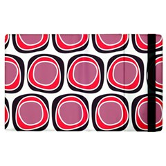 Wheel Stones Pink Pattern Abstract Background Apple Ipad 2 Flip Case by BangZart