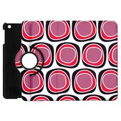 Wheel Stones Pink Pattern Abstract Background Apple Ipad Mini Flip 360 Case