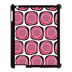 Wheel Stones Pink Pattern Abstract Background Apple Ipad 3/4 Case (black)