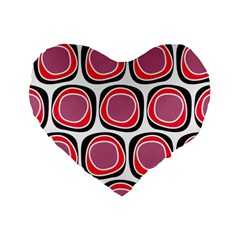 Wheel Stones Pink Pattern Abstract Background Standard 16  Premium Heart Shape Cushions by BangZart