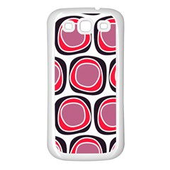 Wheel Stones Pink Pattern Abstract Background Samsung Galaxy S3 Back Case (white) by BangZart