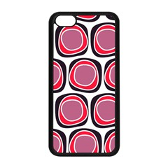 Wheel Stones Pink Pattern Abstract Background Apple Iphone 5c Seamless Case (black) by BangZart