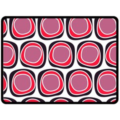 Wheel Stones Pink Pattern Abstract Background Double Sided Fleece Blanket (large)  by BangZart