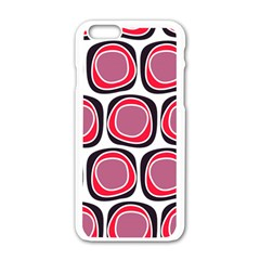 Wheel Stones Pink Pattern Abstract Background Apple Iphone 6/6s White Enamel Case by BangZart