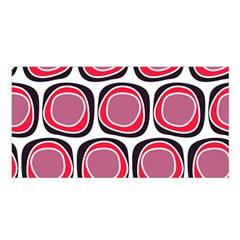 Wheel Stones Pink Pattern Abstract Background Satin Shawl by BangZart