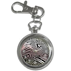 Abstract Fauna Pattern When Zebra And Giraffe Melt Together Key Chain Watches by BangZart