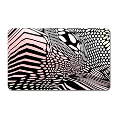 Abstract Fauna Pattern When Zebra And Giraffe Melt Together Magnet (rectangular) by BangZart