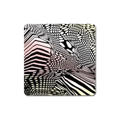 Abstract Fauna Pattern When Zebra And Giraffe Melt Together Square Magnet by BangZart