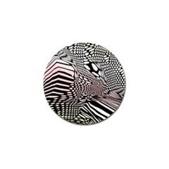 Abstract Fauna Pattern When Zebra And Giraffe Melt Together Golf Ball Marker by BangZart