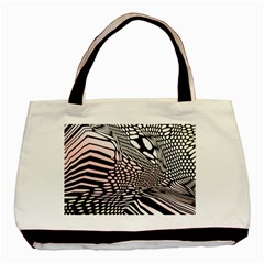 Abstract Fauna Pattern When Zebra And Giraffe Melt Together Basic Tote Bag by BangZart