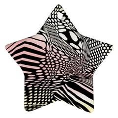 Abstract Fauna Pattern When Zebra And Giraffe Melt Together Star Ornament (two Sides) by BangZart