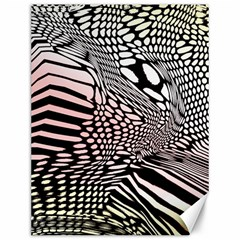 Abstract Fauna Pattern When Zebra And Giraffe Melt Together Canvas 12  X 16   by BangZart