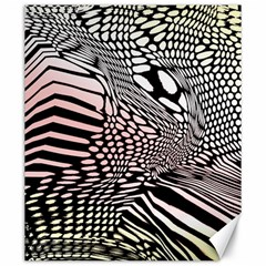 Abstract Fauna Pattern When Zebra And Giraffe Melt Together Canvas 20  X 24
