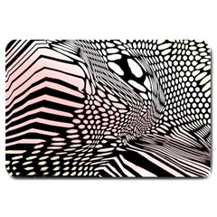 Abstract Fauna Pattern When Zebra And Giraffe Melt Together Large Doormat  by BangZart
