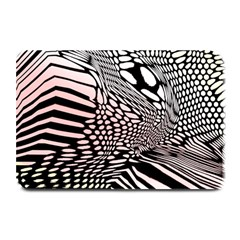 Abstract Fauna Pattern When Zebra And Giraffe Melt Together Plate Mats by BangZart