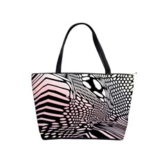 Abstract Fauna Pattern When Zebra And Giraffe Melt Together Shoulder Handbags by BangZart