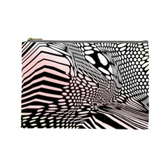 Abstract Fauna Pattern When Zebra And Giraffe Melt Together Cosmetic Bag (large)  by BangZart