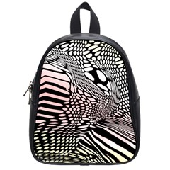 Abstract Fauna Pattern When Zebra And Giraffe Melt Together School Bags (small)